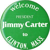 Pin Jimmy Carter S 1977 Visit To Clinton Massachusetts